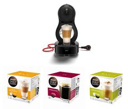 DOLCE GUSTO by Krups Lumio KP130840 Coffee Machine & Pod Bundle - Macchiato, Americano & Cappuccino