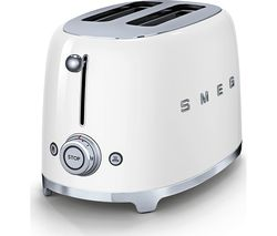 SMEG 50's Retro TSF01WHUK 2-Slice Toaster - White