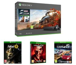 MICROSOFT Xbox One X, Forza Horizon 4, Forza Motorsport 7, Project Cars 2, Tekken 7 & Fallout 76 Bundle