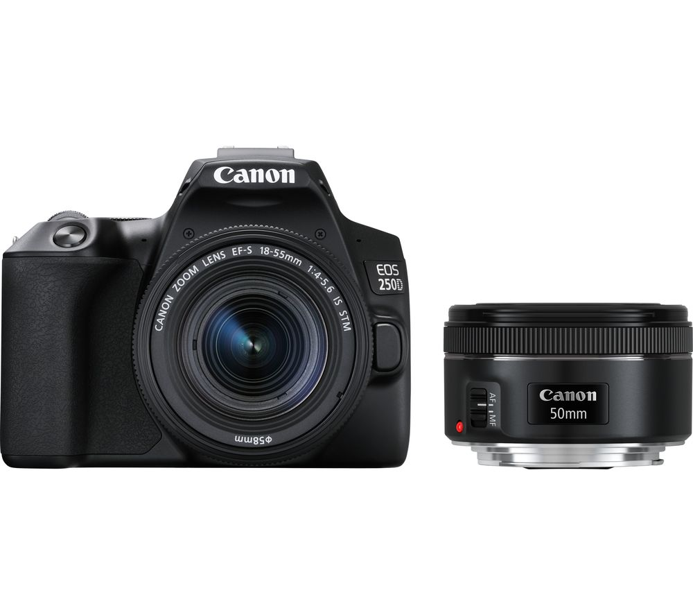 CANON EOS 250D DSLR Camera with EF-S 18-55 mm f/3.5-5.6 III & EF 50 mm f/1.8 STM Lens