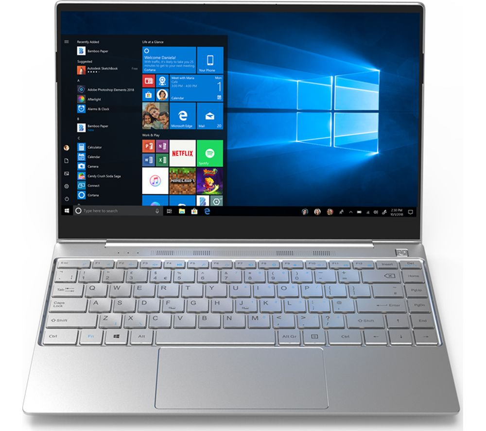 "GEO Book3Si 13.3"" Laptop - Intel® Core™ i3, 128 GB SSD, Silver"
