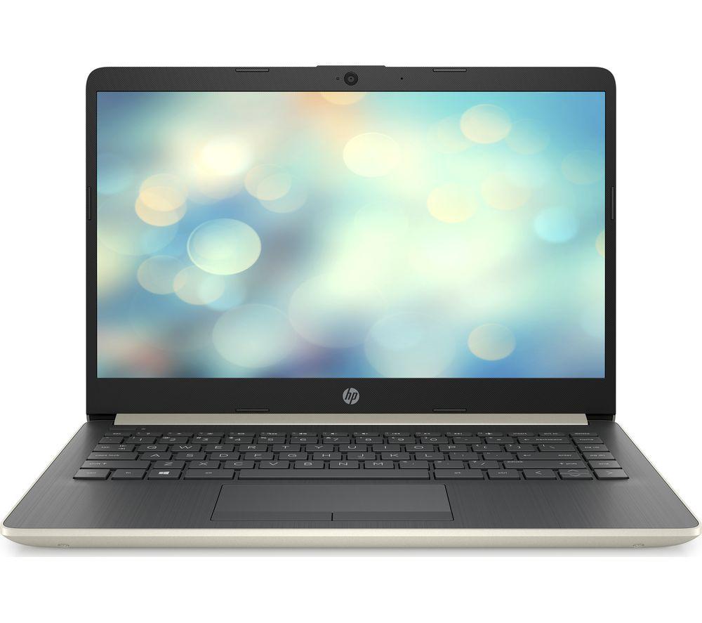 "HP 14-cf0500sa 14"" Intel® Pentium® Gold Laptop - 128 GB SSD, Gold"
