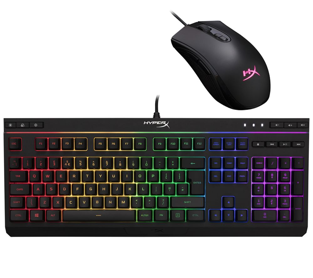 HYPERX Alloy Core RGB Gaming Keyboard & Pulsefire Core Optical Gaming Mouse Bundle