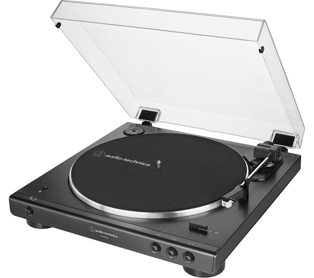 Image of AUDIO TECHNICA AT-LP60XBT Belt-Drive Bluetooth Turntable - Black, Black