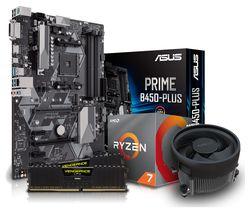 PC SPECIALIST AMD Ryzen 7 Processor, PRIME B450M PLUS Motherboard, 16 GB RAM & AMD Cooler Components Bundle