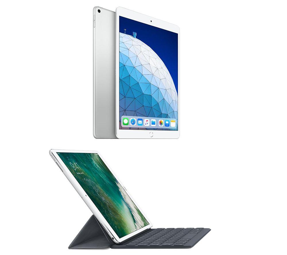 "Image of 10.5"" iPad Air (2019) & Smart Keyboard Folio Case Bundle - 64 GB, Silver, Silver"