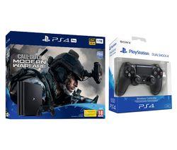 SONY PlayStation 4 Pro with Call of Duty: Modern Warfare & DualShock 4 V2 Wireless Controller Bundle