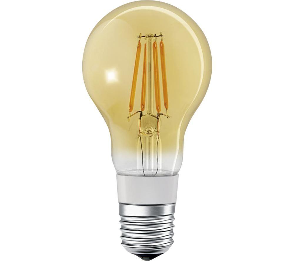LEDVANCE SMART+ Filament Classic Dimmable LED Light Bulb - E27, Yellow