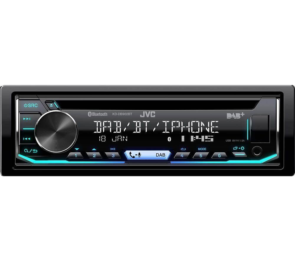 JVC KD DB902BT CD Car Receiver - Black, Black