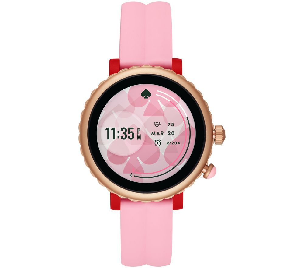 Image of KATE SPADE Scallop Sport KST2015 Smartwatch - Pink & Rose Gold, Silicone Strap, 41 mm, Pink