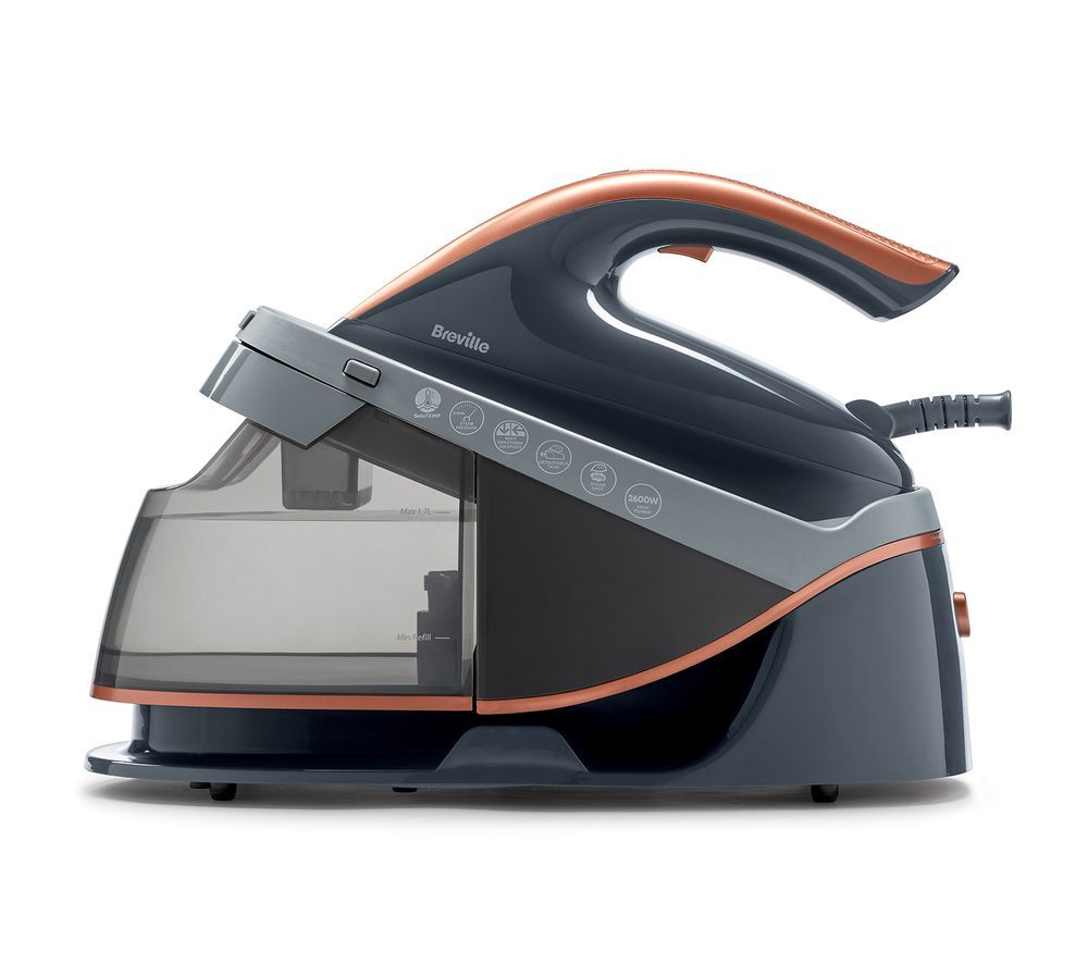 Image of BREVILLE PressXpress VIN411 Steam Generator Iron - Grey & Rose Gold, Grey