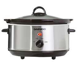 DAEWOO SDA1364 Slow Cooker - Stainless Steel Best Price, Cheapest Prices