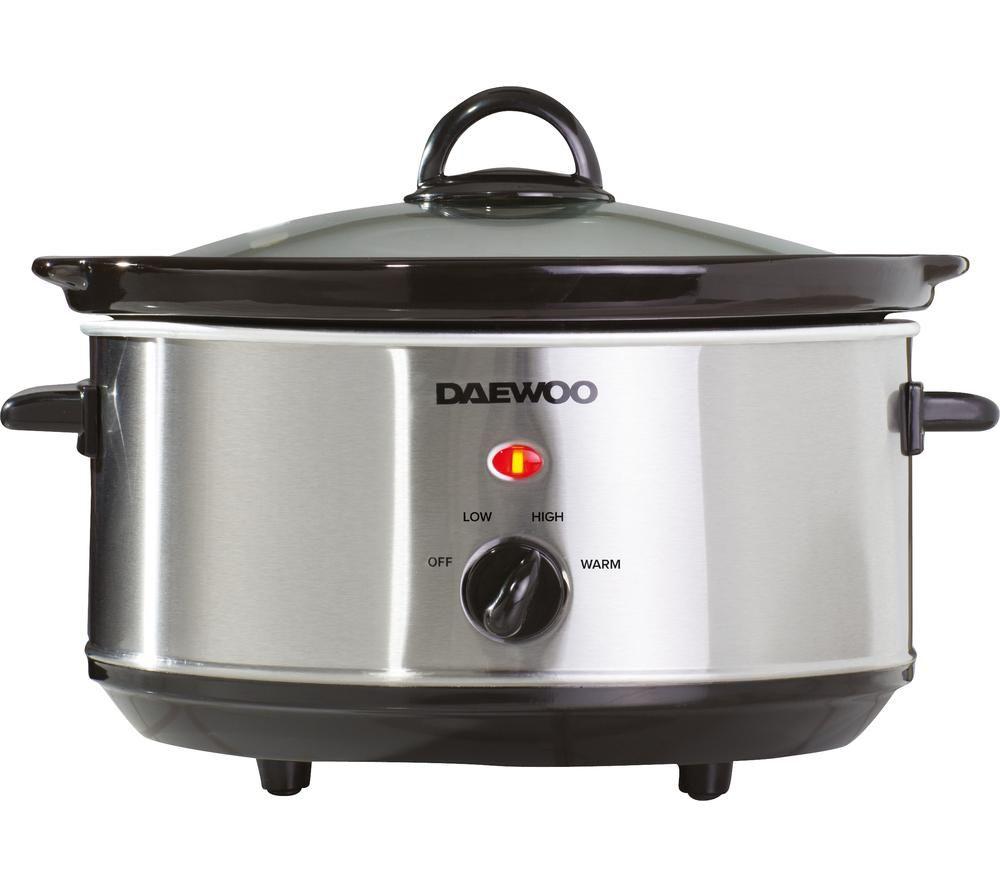 DAEWOO SDA1364 Slow Cooker - Stainless Steel