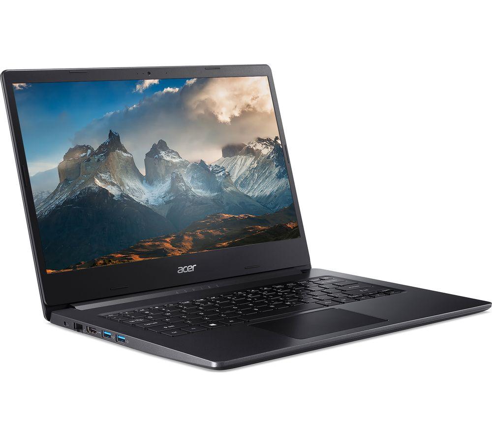 ACER Aspire 3 14 Laptop - AMD Ryzen 3, 128 GB SSD, Black, Black