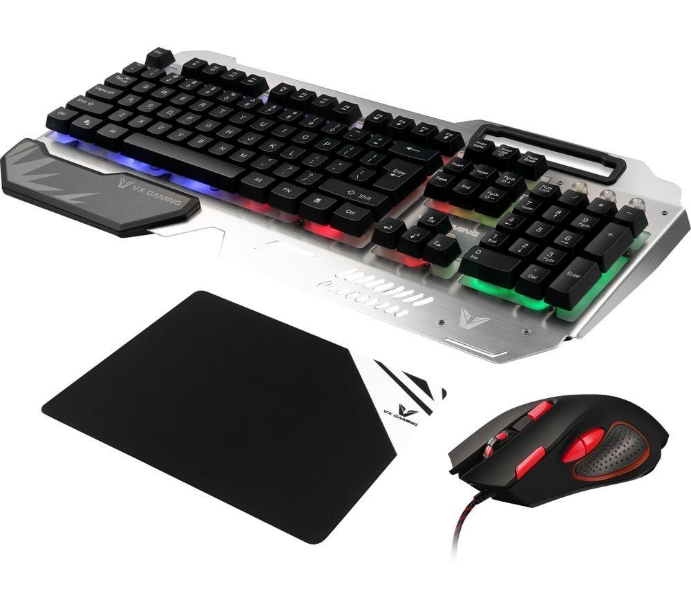 VOLKANO VX Combat Combo Series Gaming Keyboard, Mouse & Mouse Mat Bundle