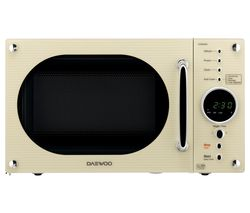 DAEWOO Retro KOR8A9RC Solo Microwave - Cream Best Price, Cheapest Prices