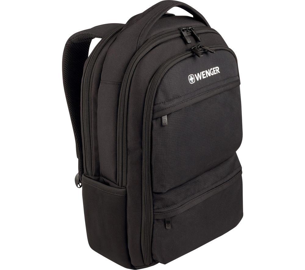 """WENGER Fuse 15.6"""" Laptop Backpack - Black"""