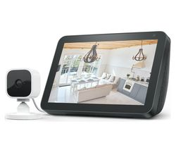 Echo Show 5 (2019) & Blink Mini Full HD 1080p WiFi Plug-In Security Camera Bundle - Black