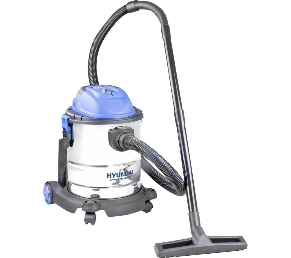 HYUNDAI HYVI2012 Cylinder Wet & Dry Vacuum Cleaner - Silver & Blue
