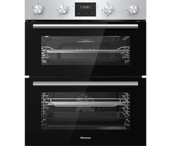 BID75211XUK Electric Built-under Double Oven - Stainless Steel & Black