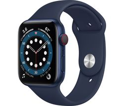 Watch Series 6 Cellular - Blue Aluminium with Deep Navy Sports Band, 44 mm