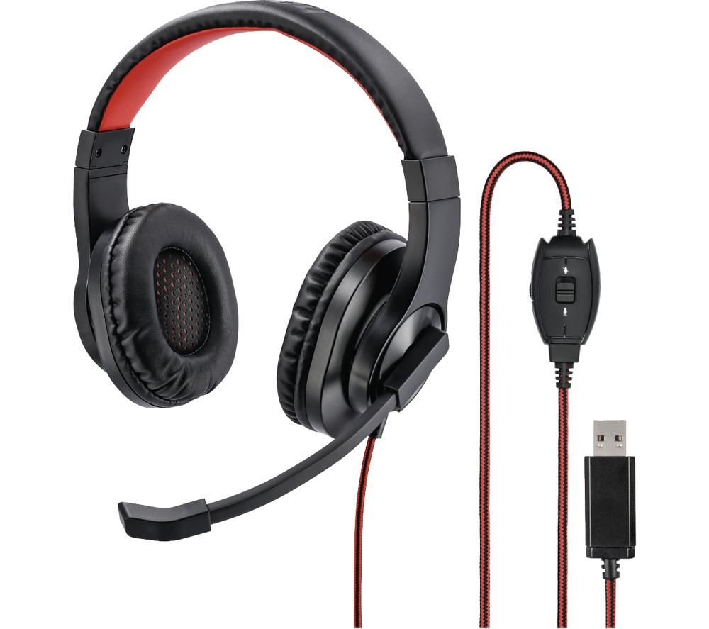 Image of HAMA HS-USB400 Headset - Black, Black