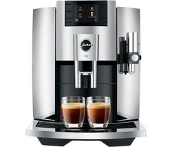 JURA E8 15363 Smart Bean to Cup Coffee Machine - Chrome Silver Best Price, Cheapest Prices