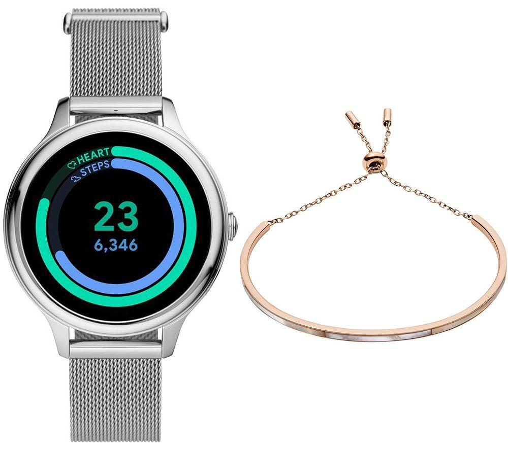 FOSSIL Gen 5E Smartwatch & Bracelet Bundle - Silver, Mesh Strap