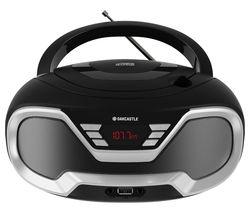 CD200 FM Bluetooth Boombox - Black