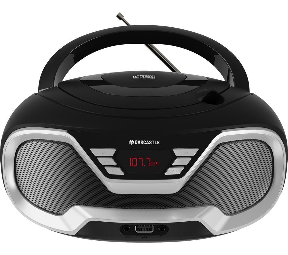 Image of OAKCASTLE CD200 FM Bluetooth Boombox - Black, Black