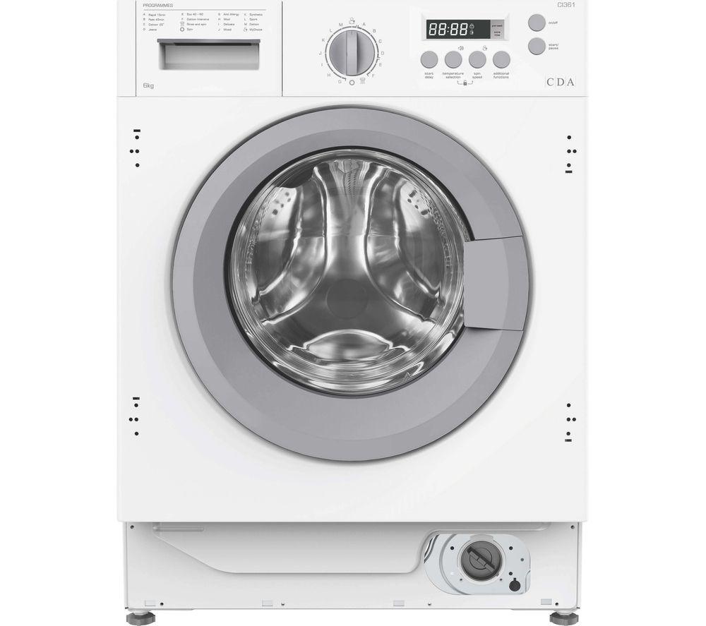 CDA C3161 Integrated 6 kg 1200 Spin Washing Machine
