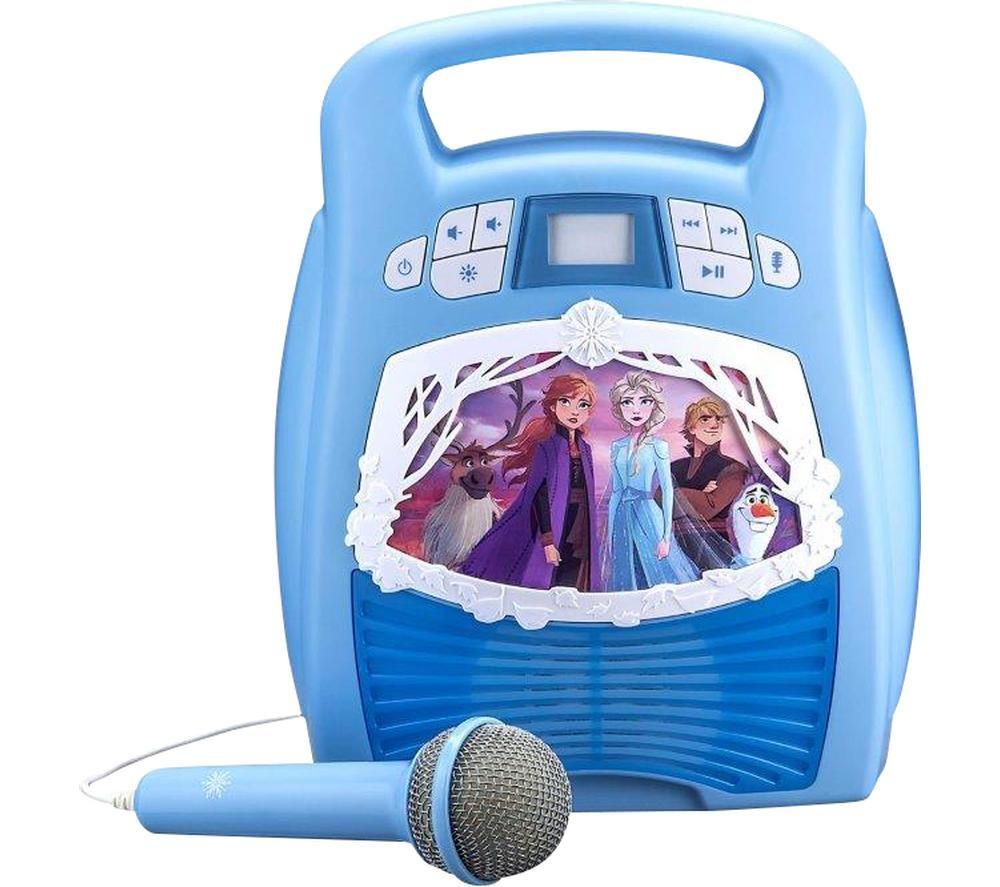 EKIDS Frozen 2 FR-553 Bluetooth Karaoke System - Blue, Blue