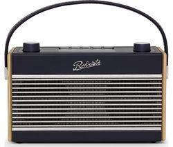 Rambler BT Portable DAB+/FM Retro Bluetooth Radio - Navy Blue