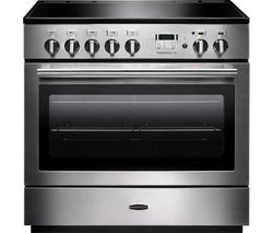 RANGEMASTER Professional+ FX 90 Induction Range Cooker - Stainless Steel & Chrome Best Price, Cheapest Prices
