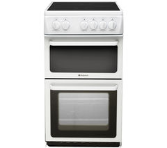 HOTPOINT HAE51PS Electric Ceramic Cooker - White Best Price, Cheapest Prices