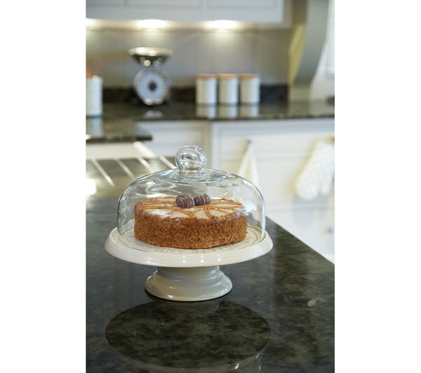 Cake Stand With Dome Ceramic