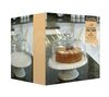 KITCHEN CRAFT Classic Collection Ceramic Cake Stand with Glass Dome