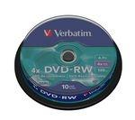 VERBATIM 4x Speed DVD-RW Blank DVDs - Pack of 10