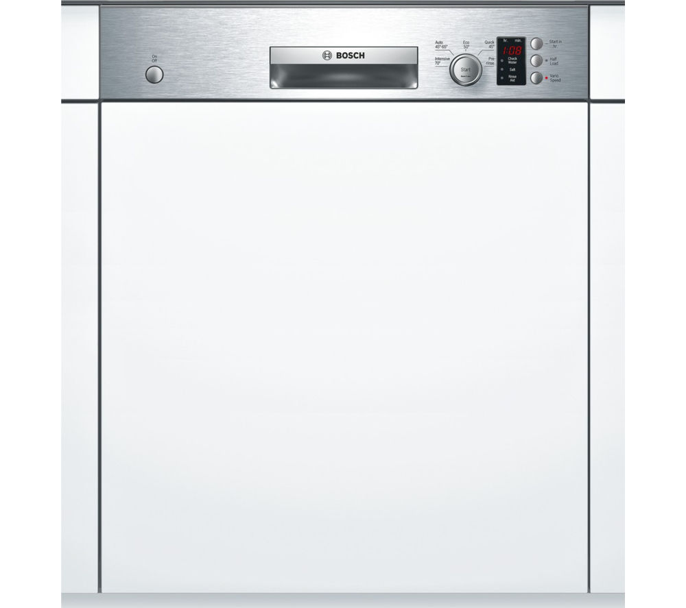BOSCH Serie 4 SMI50C15GB Full-size Semi-Integrated Dishwasher - Stainless Steel