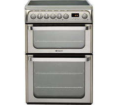 HOTPOINT HUE61XS Electric Ceramic Cooker - Stainless Steel Best Price, Cheapest Prices