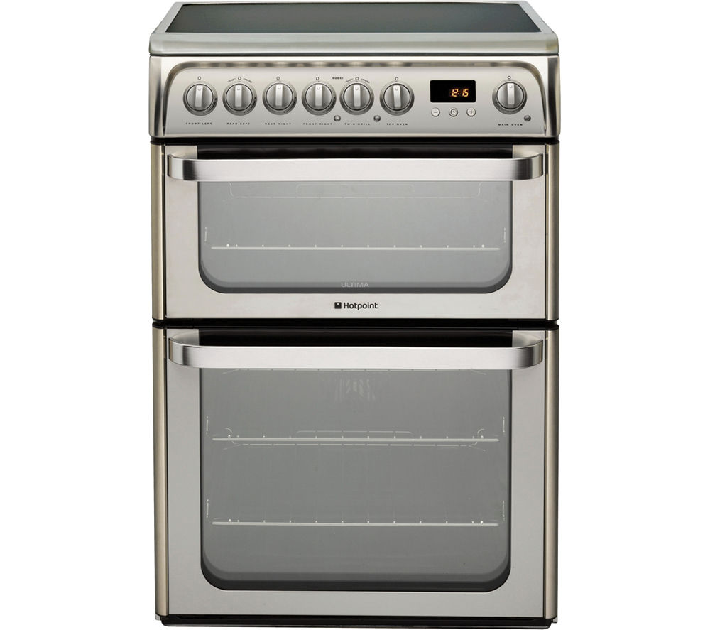 Buy Hotpoint Hue61xs Electric Ceramic Cooker Stainless