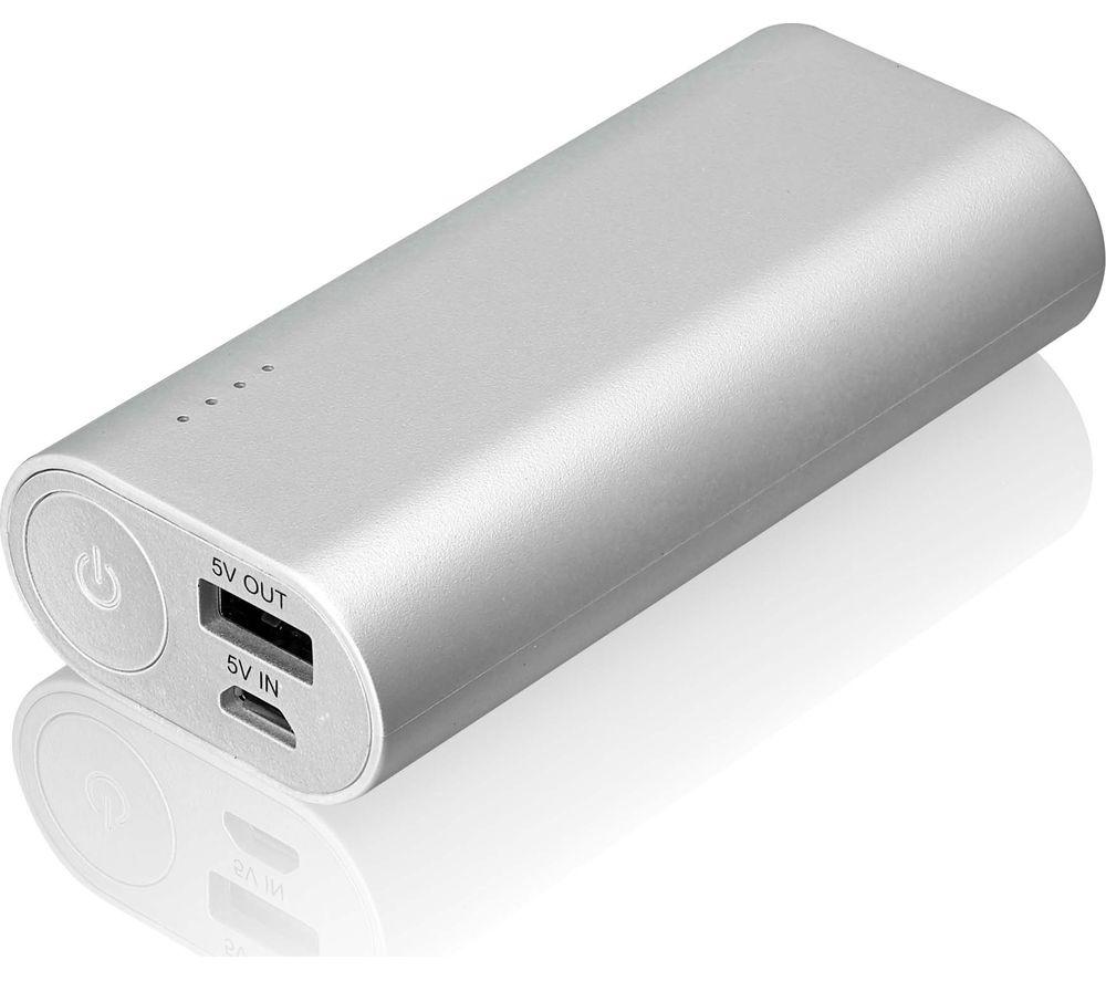 GOJI G6PB6SV16 Portable Power Bank - Silver
