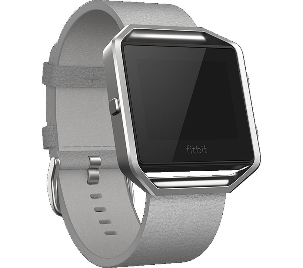 FITBIT Blaze Leather Accessory Band - Large, Grey