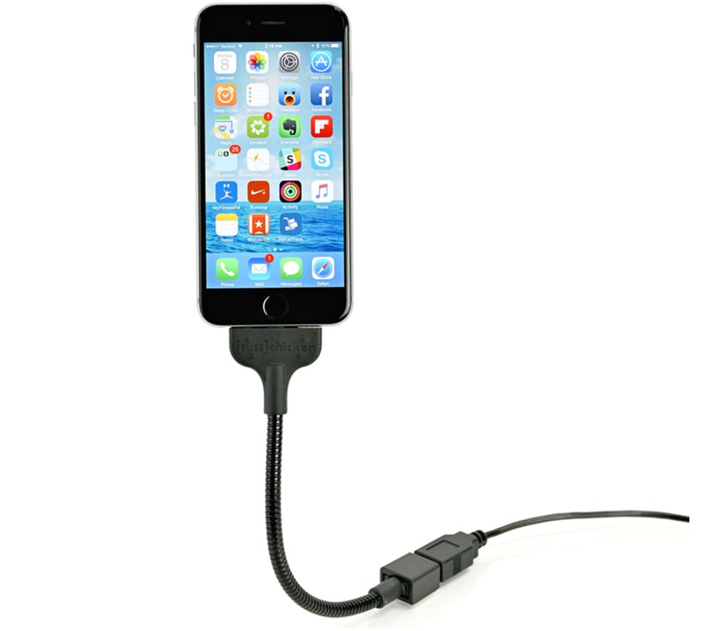 FUSE CHICKEN Bobine Blackout USB to 8-pin Lightning Cable with Phone Mount - Everywhere Mount