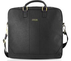 "GUESS 15"" Leather Laptop Case - Black"