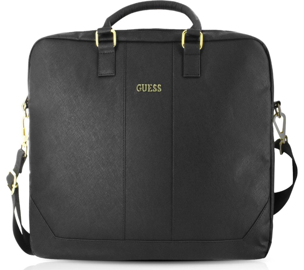 "GUESS 15"" Leather Laptop Case - Black"