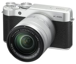FUJIFILM X-A10 Mirrorless Camera with XC 16-50 mm f/3.5-5.6 OIS II Lens - Silver