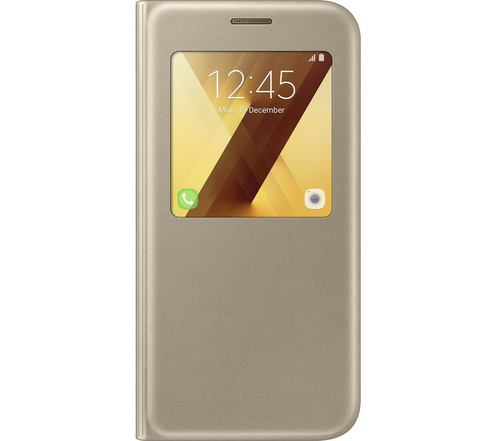 SAMSUNG Galaxy A5 S Clear View Case - Gold