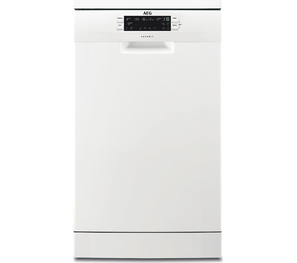 Image of AEG FFB62400PW Slimline Dishwasher - White