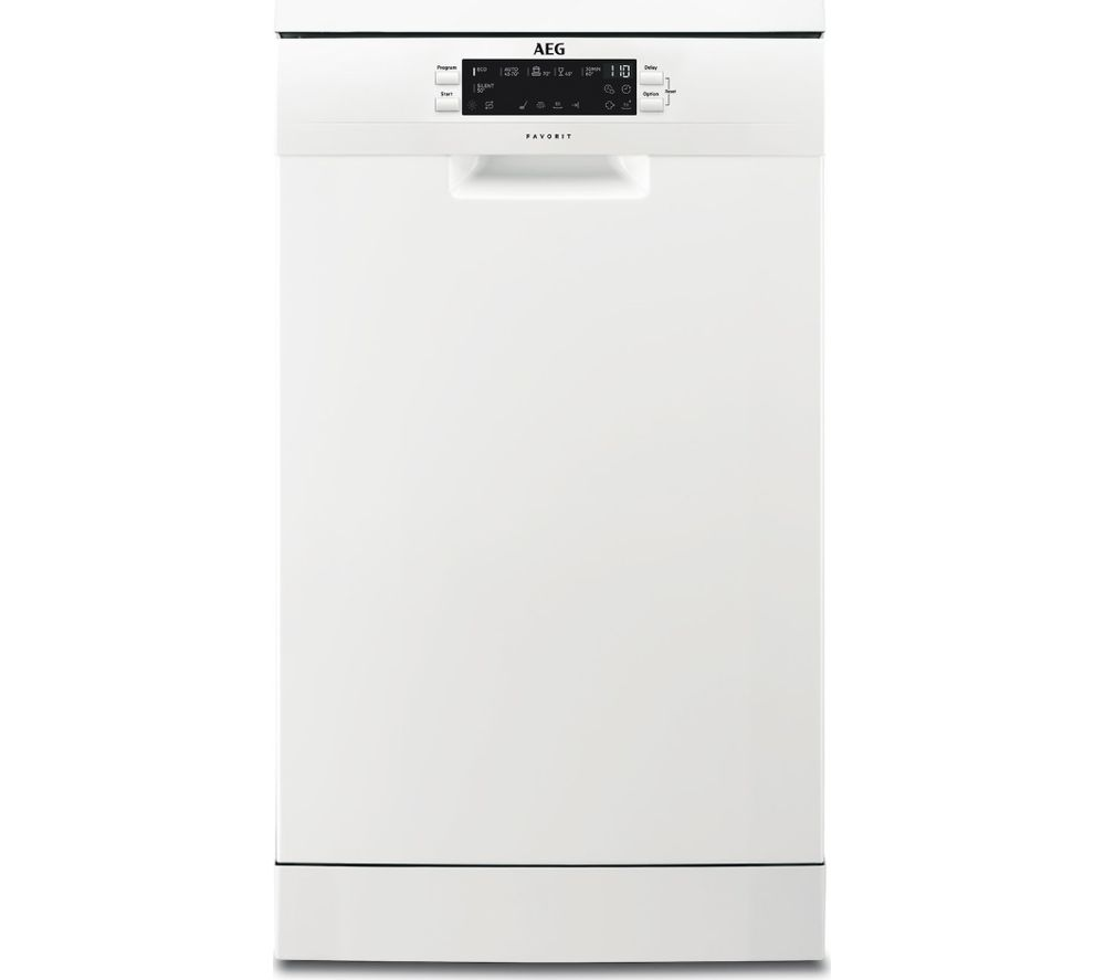 AEG FFB62400PW Slimline Dishwasher - White